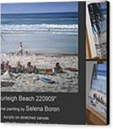 Burleigh Beach 220909 Canvas Print by Selena Boron