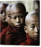 Burma Monks 2 Canvas Print by David Longstreath