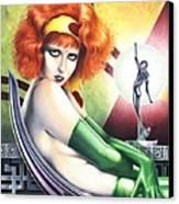 Burn Clara Bow Opus 7 Canvas Print by Paul Petro