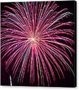 4th Of July Fireworks 24 Canvas Print by Howard Tenke