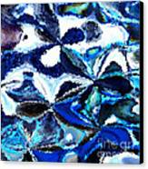 Bursts Of Blue And White - Abstract Art Canvas Print by Carol Groenen