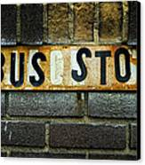 Bus Stop Canvas Print by Jeff Burton