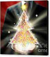 Businessman With Christmas Canvas Print by Atiketta Sangasaeng