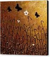 Butterflies Landscape Canvas Print by Carmen Guedez