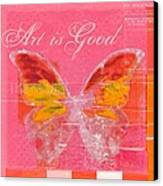 Butterfly Art - P11aig13a_ Art Is Good Canvas Print by Variance Collections