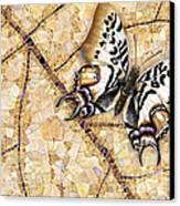 Butterfly Mosaic 01 Elena Yakubovich Canvas Print by Elena Yakubovich