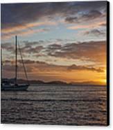 Bvi Sunset Canvas Print by Adam Romanowicz