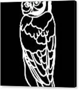 Bw Owl Canvas Print by Amy Sorrell