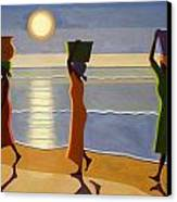 By The Beach Canvas Print by Tilly Willis