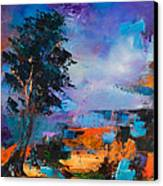 By The Canyon Canvas Print by Elise Palmigiani