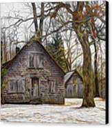 Cabin Dream Canvas Print by Debra and Dave Vanderlaan