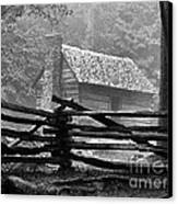 Cabin In The Fog Canvas Print by Julie Dant