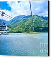 Cable Car Canvas Print by Niphon Chanthana