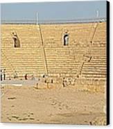 Caesarea Israel Ancient Colosseum Canvas Print by Robert Birkenes