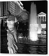 Caesars Fountain Bw Canvas Print by Jenny Hudson