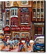 Cafe Bistro La Marinara Canvas Print by Carole Spandau