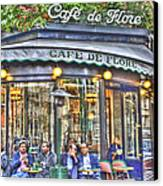 Cafe Flore In Summer Canvas Print by Matthew Bamberg