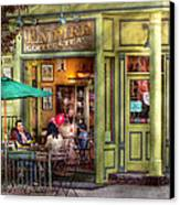 Cafe - Hoboken Nj - Empire Coffee And Tea Canvas Print by Mike Savad