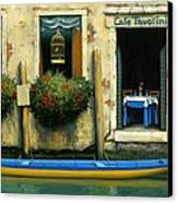 Cafe Tavolini Canvas Print by Michael Swanson