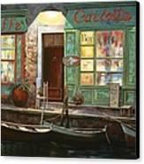 caffe Carlotta Canvas Print by Guido Borelli