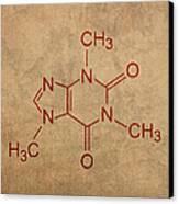 Caffeine Molecule Coffee Fanatic Humor Art Poster Canvas Print by Design Turnpike