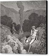 Cain And Abel Offering Their Sacrifices Canvas Print by Gustave Dore