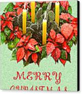 California Cactus Christmas Canvas Print by Mary Helmreich