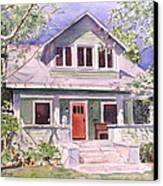California Craftsman Cottage Canvas Print by Patricia Pushaw