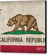 California State Flag Canvas Print by Pixel Chimp