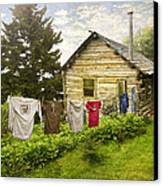 Camp Leconte Canvas Print by Debra and Dave Vanderlaan