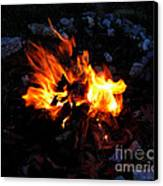 Campfire Canvas Print by Boon Mee