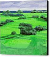 Campo Da Golf Canvas Print by Guido Borelli