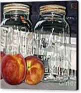 Canning Time Canvas Print by Barbara Jewell