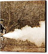 Cannon Fire Canvas Print by Mark Miller