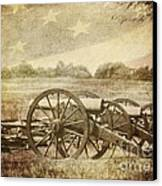 Cannons At Pea Ridge Canvas Print by Pam  Holdsworth