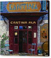 cantina Ala Canvas Print by Guido Borelli