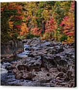 Canyon Color Rushing Waters Canvas Print by Jeff Folger