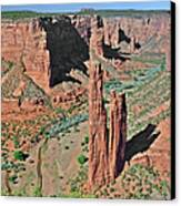 Canyon De Chelly - Spider Rock Canvas Print by Christine Till