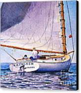 Cape Cod Catboat Canvas Print by Karol Wyckoff