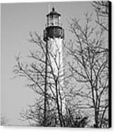 Cape May Light B/w Canvas Print by Jennifer Lyon