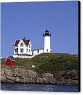 Cape Neddick Light Station In Maine Canvas Print by Mountain Dreams