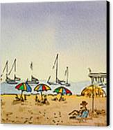 Capitola - California Sketchbook Project  Canvas Print by Irina Sztukowski