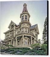 Captain George Flavel Victorian House - Astoria Oregon Canvas Print by Daniel Hagerman