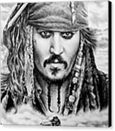 Captain Jack Sparrow 2 Canvas Print by Andrew Read