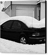 Car Buried In Snow Outside House In Honningsvag Norway Europe Canvas Print by Joe Fox