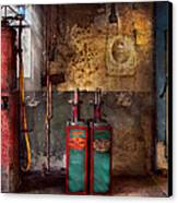Car - Station - Gas Pumps Canvas Print by Mike Savad
