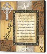 Caramel Scripture Canvas Print by Debbie DeWitt
