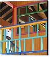 Caribbean Railings Canvas Print by Randall Weidner