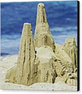 Caribbean Sand Castle  Canvas Print by Betty LaRue