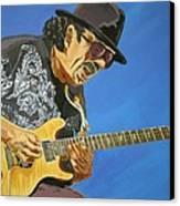 Carlos Santana-magical Musica Canvas Print by Bill Manson